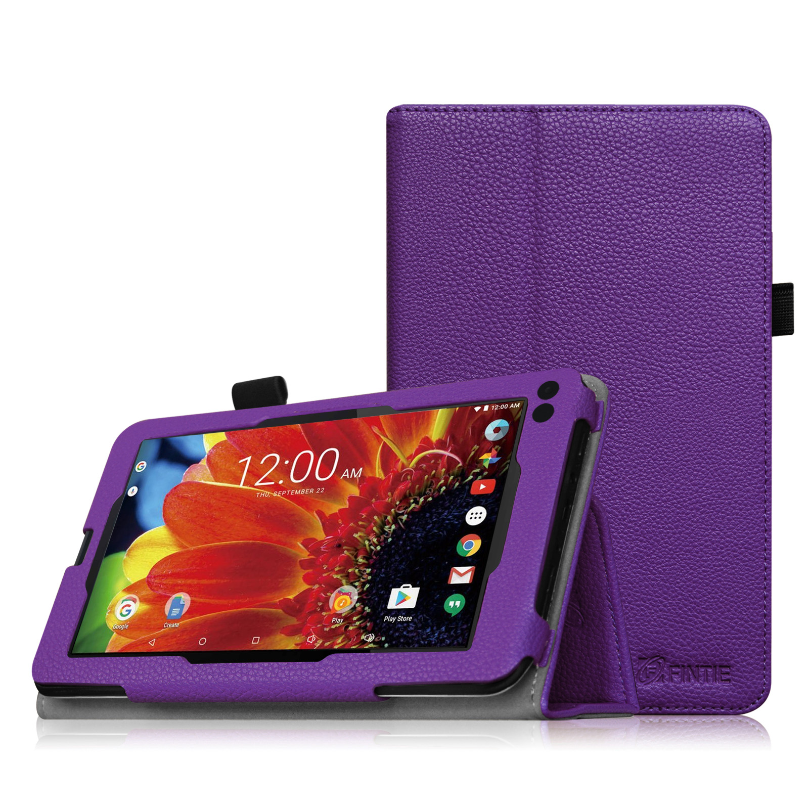 "Fintie PU Leather Case Folio Cover for RCA 7"" Voyager III / Voyager II / Voyager Pro Tablet, Violet"