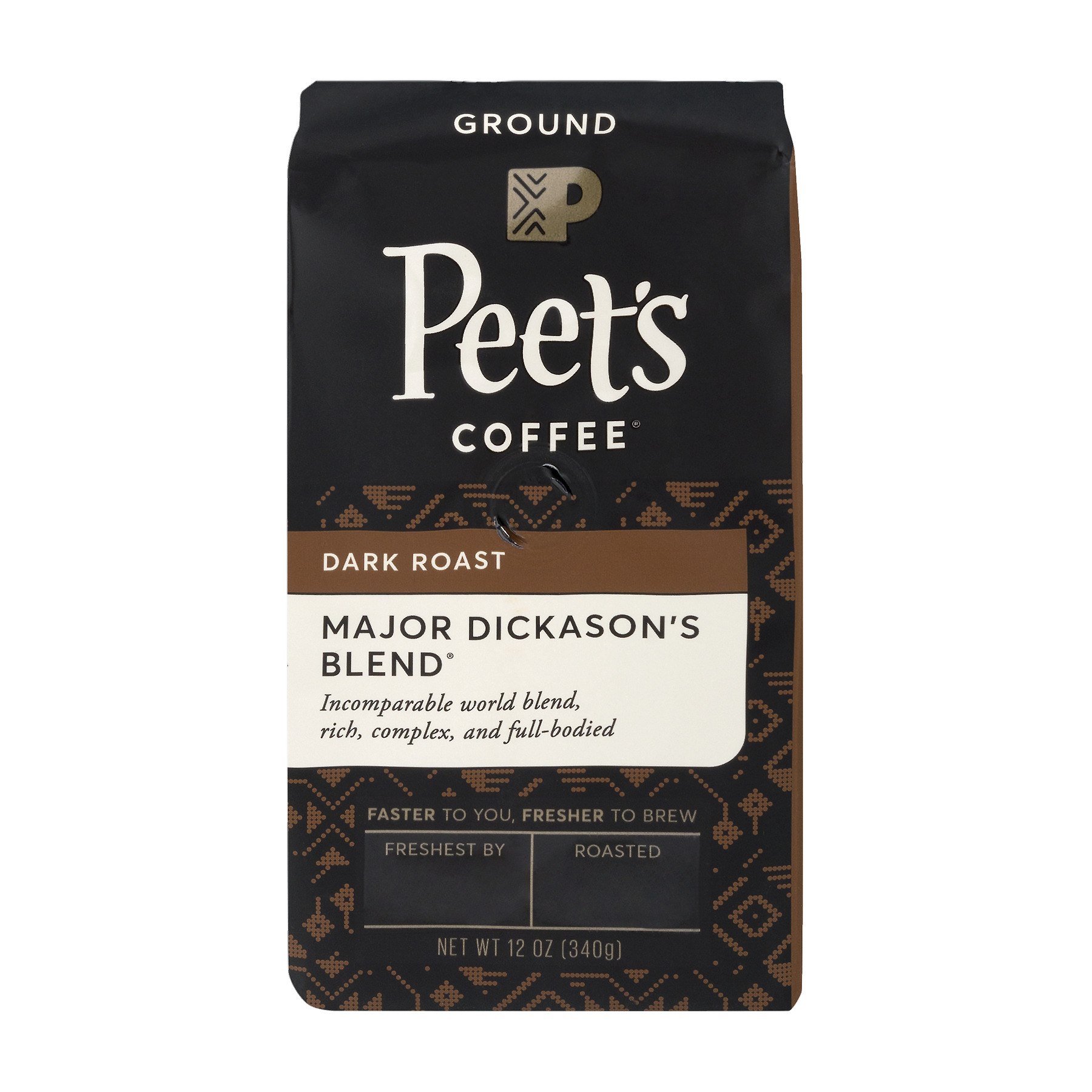 Peet's Coffee Dark Roast Major Dickason's Blend, 12.0 OZ