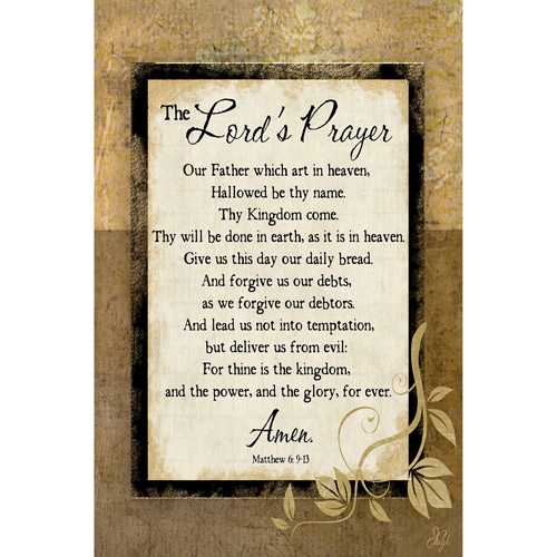 "Canvas Wall Art Inspirational Lord's Prayer, 21.5"" x 32.5"""