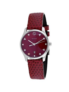 db9a25523d9 Product Image G-Timeless Red Mother of Pearl Dial Ladies Watch YA126584.  Gucci