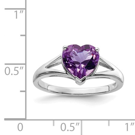925 Sterling Silver Purple Amethyst Band Ring Size 8.00 S/love Gemstone Fine Jewelry Gifts For Women For Her - image 1 de 6