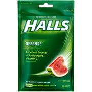 3 Pack - Halls Defense Vitamin C Drops Watermelon 30 ea
