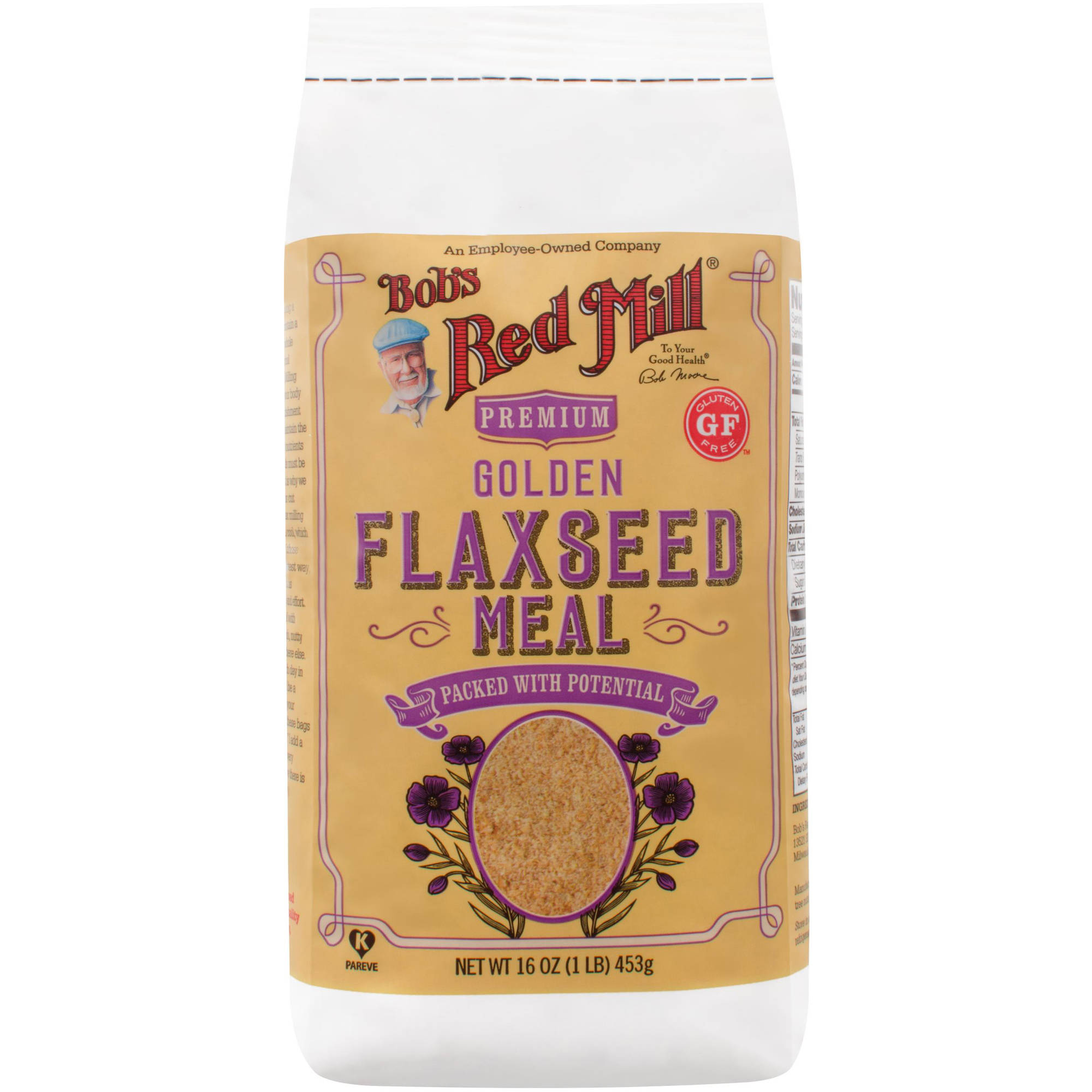 Bob's Red Mill Whole Ground Golden Flaxseed Meal, 16 oz (Pack of 4)