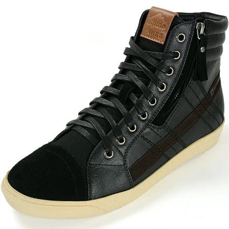 2dda19e22b3 Alpine Swiss - Alpine Swiss Reto Mens High Top Sneakers Lace Up   Zip Ankle  Boots Fashion Shoes - Walmart.com