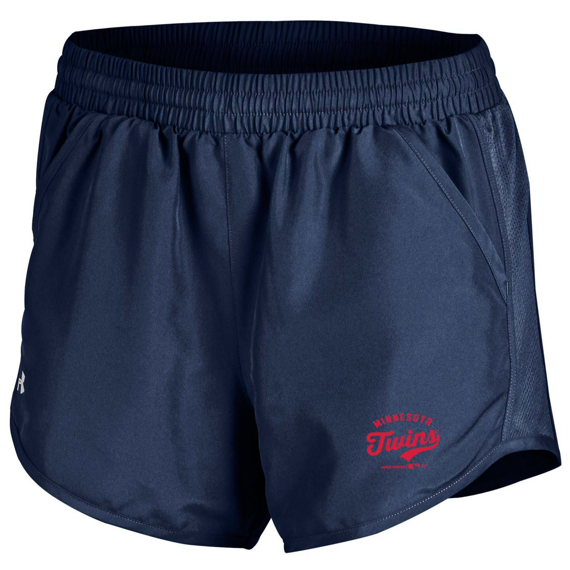 Minnesota Twins Under Armour Women's Fly By Running Shorts - Navy