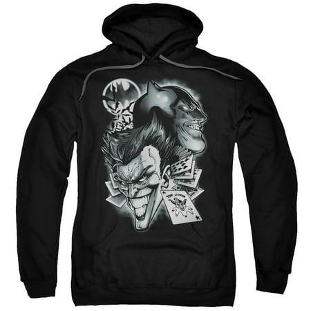 Batman Archenemies Mens Pullover Hoodie (Mens Batman Hoodie)