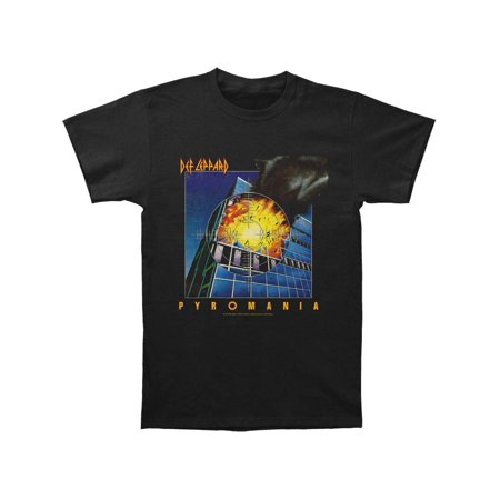 Def Leppard Men's  Pyromania T-shirt (Def Leppard Button)
