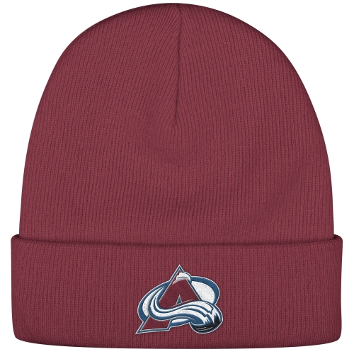 Colorado Avalanche Reebok Basic Cuffed Knit Hat - Burgundy - OSFA