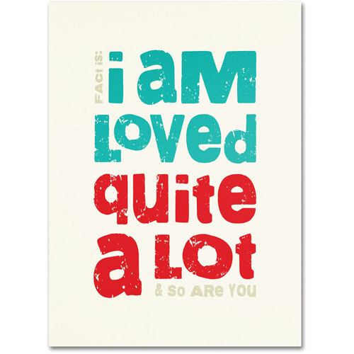 "Trademark Fine Art ""Loved a Lot II"" Canvas Art by Megan Romo"