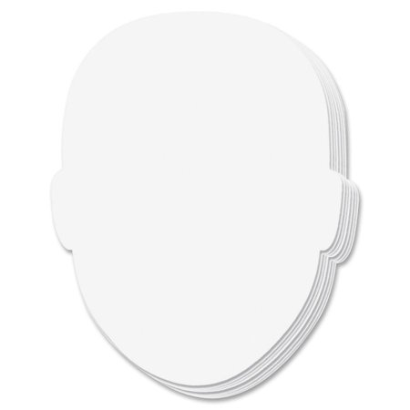 Creativity Street, CKC987410, Face-shaped Student Whiteboard, 10 / Pack, - Student Whiteboards