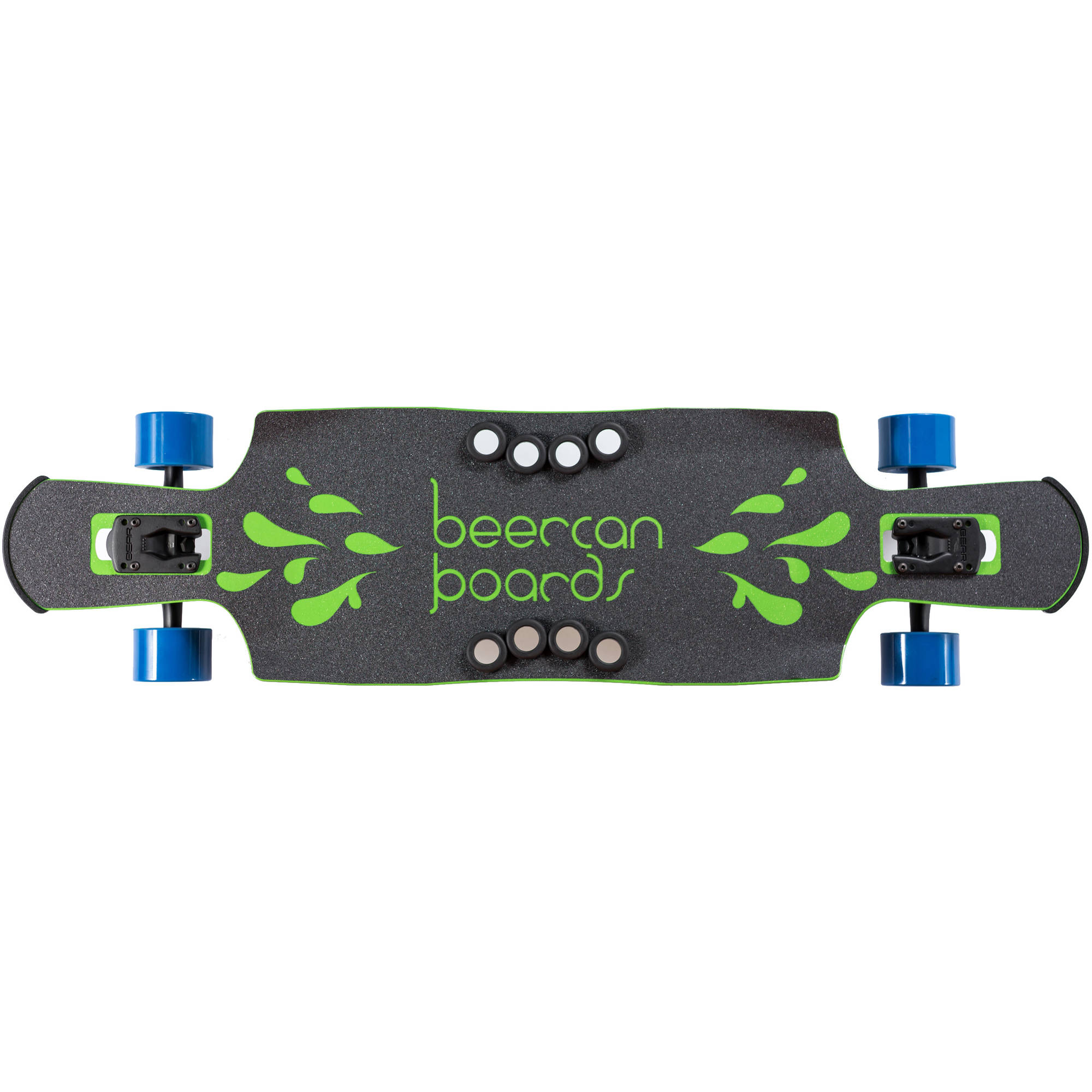 """40"""" Green Kegger Complete Longboard, Double Drop with Pedals by Beercan Boards"""