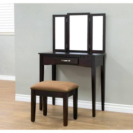 home craft 3 piece vanity espresso. Black Bedroom Furniture Sets. Home Design Ideas
