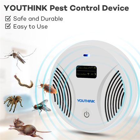 Ultrasonic Pest Repeller Electronic Pest Control Plug In with LCD Display Anti Mosquito Rat Mice Bat Bug Control Tool