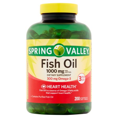 Spring valley fish oil dietary supplement softgels 1000mg for Spring valley fish oil review