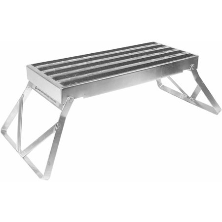 Camco Metal Bi Fold Step Stool With Non Skid Feet