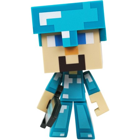 Minecraft 6 Inch Figure, Vinyl Diamond Steve