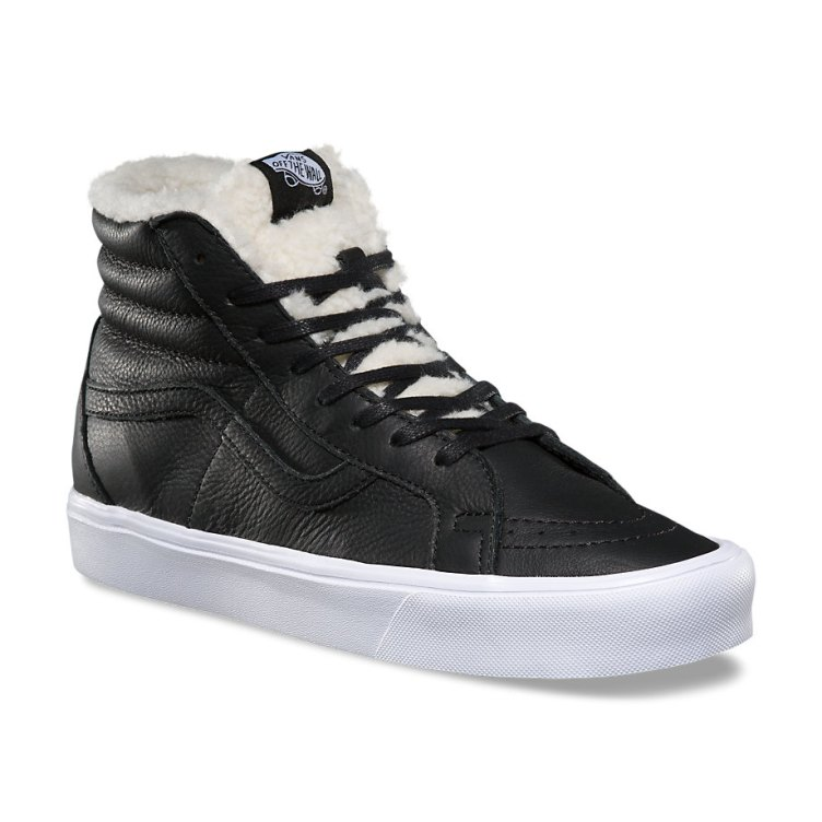 Vans SK8 Hi Lite Reissue Sherpa Black/True White Men's Shoes Size 10