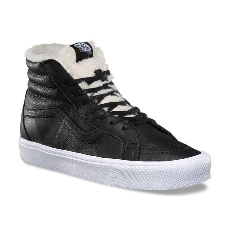 Vans SK8 Hi Lite Reissue Sherpa Black/True White Women's Shoes Size 8.5
