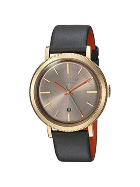 Ted Baker Men's Watch Grey Leather Bracelet With Grey Dial TE15062006