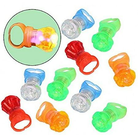 Flashing LED Flower Finger Rings 12 Pack - Novelty Multicolor Flashing Rings](Flashing Novelty Toys)