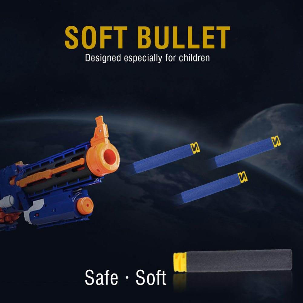 Yosoo EVA Refill Bullet, EVA Foam Bullet,100pcs 10 Colors Toy Gun Soft Refill Bullets Darts EVA Foam for Elite Series