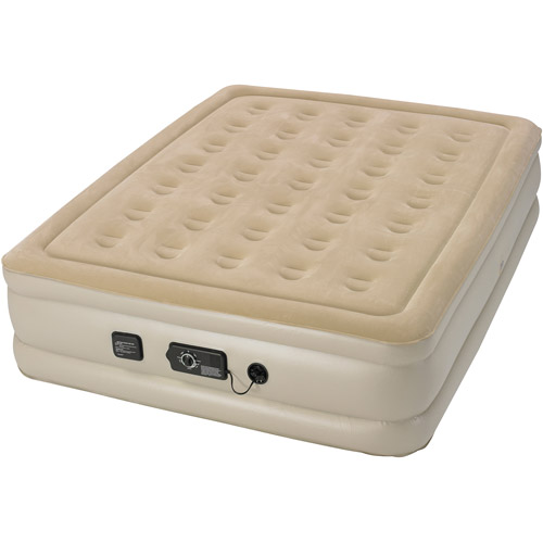 Serta Raised Air Bed with NeverFlat AC Pump, Queen