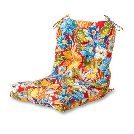 Floral Cushion (Greendale Home Fashions Aloha Floral Outdoor Chair Cushion )