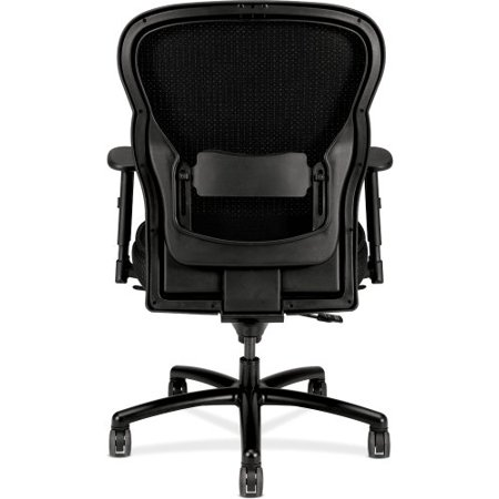 hon vl705 mesh back leather big and tall chair for office or computer desk black. Black Bedroom Furniture Sets. Home Design Ideas