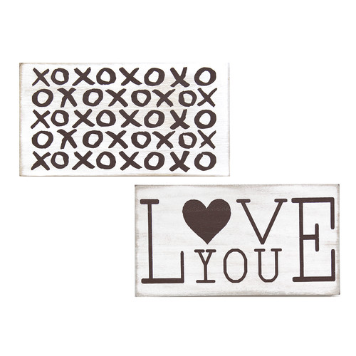 Stratton Home Decor Love 2 Piece Graphic Art Set