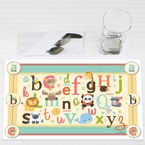 Click here to buy A is for Alphabet Party Placemats Set of 12 by Big Dot of Happiness, LLC.
