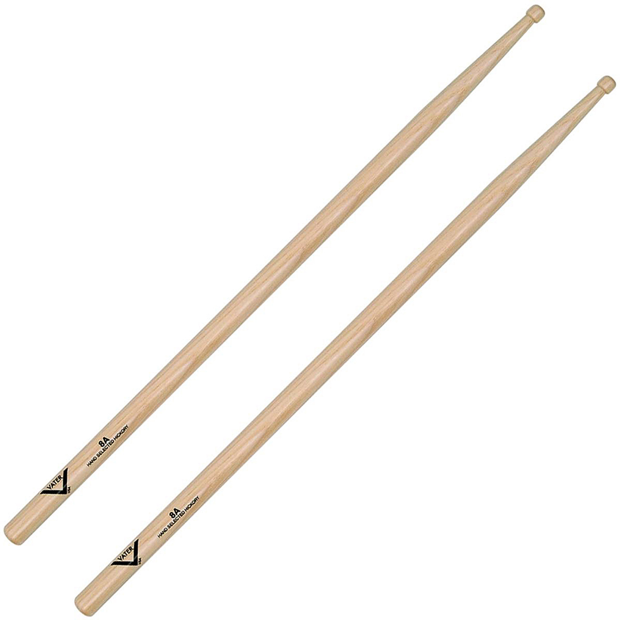 Vater American Hickory 8A Drumsticks Wood by Vater