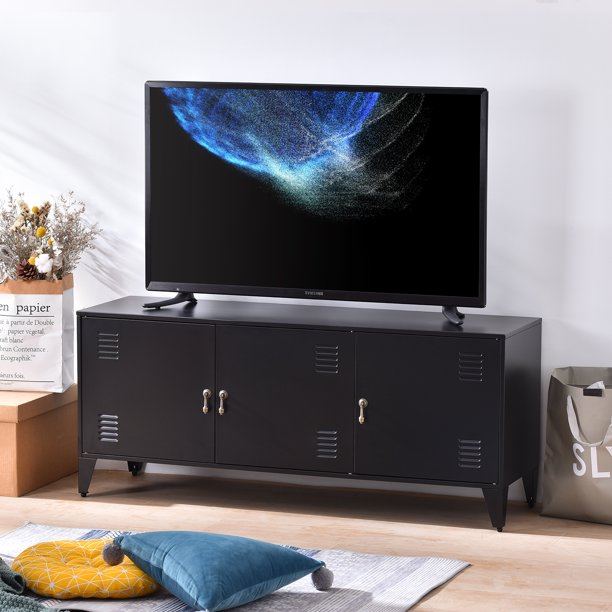 Living Room Tv Stand Industrial Tv Stand For Tvs Up To 47 Universal Metal Tv Console