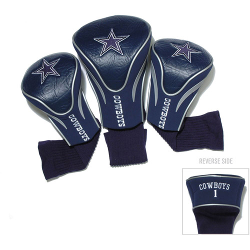 Team Golf NFL Dallas Cowboys 3 Pack Contour Head Covers
