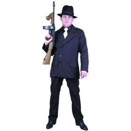 Adult Black Deluxe Gangster Costume Charades 781