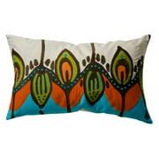 Koko Company 27 in. Coptic Oblong Pillow - Blue/Orange