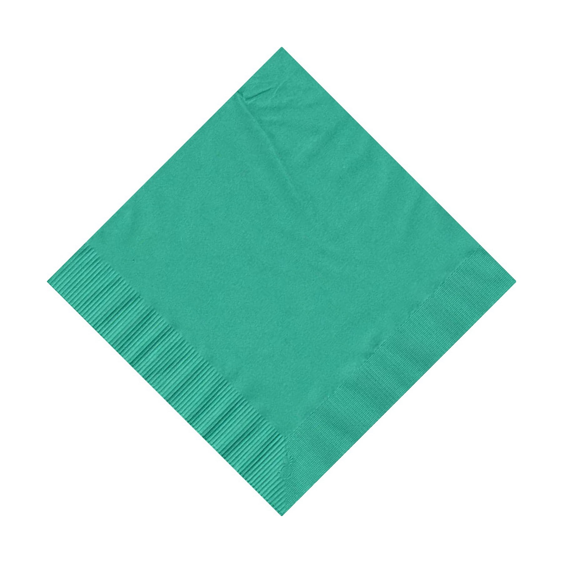 50 Plain Solid Colors Beverage Cocktail Napkins Paper Teal by CREATIVE CONVERTING