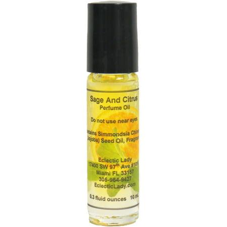 Sage And Citrus Perfume Oil, Large Desert Sage Perfume Oil