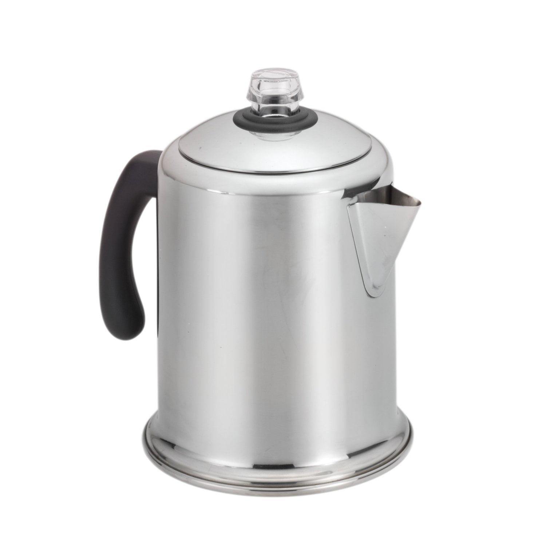 Classic Stainless Steel Yosemite 8-Cup Coffee Percolator, Ship from USAοΌ Brand Farberware
