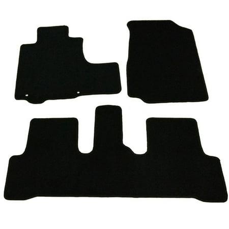 Honda Crx Cat - Fits 07-11 Honda CR-V 4Dr OEM Factory Fitment Car Floor Mats Front & Rear Nylon