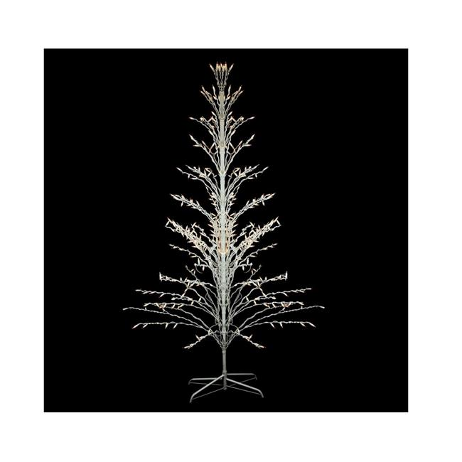 Northlight 32606087 6 ft. White Lighted Christmas Cascade Twig Tree Outdoor Yard Art Decoration - Clear Lights