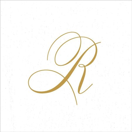 - Paper Linen Airlaid Initial R White Pearl Cocktail Napkins 30pk