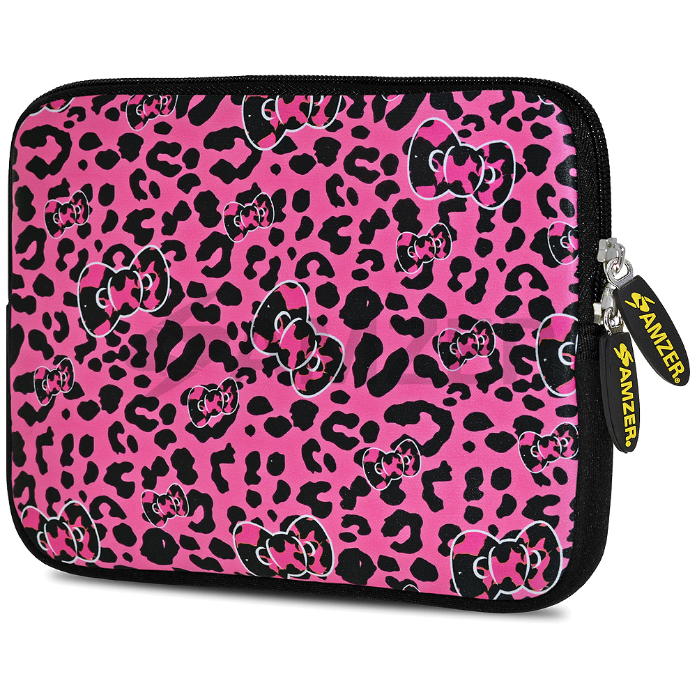 Universal 10.5 Inch Soft Neoprene Designer Sleeve Case Pouch for 10.5 Inch Tablet, eBook, Netbook - Pink Panther Bow