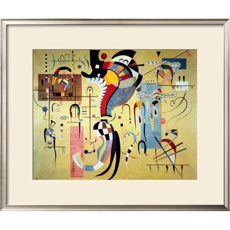 Wassily Kandinsky Artwork - Milieu Accompagne Framed Art Print Wall Art  By Wassily Kandinsky - 34.5x28.5