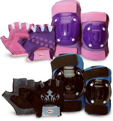 BELL SPORTS INC Riderz Bicycle Elbow & Knee Pad Set, Street Shred 8003373