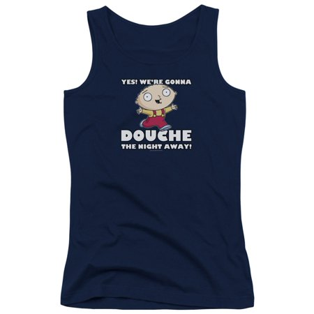 Family Guy Douche The Night Away Juniors Tank Top (Best Douche For Guys)
