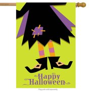 """Halloween Boots House Flag Witch Feet 28"""" x 40"""" Briarwood Lane"""