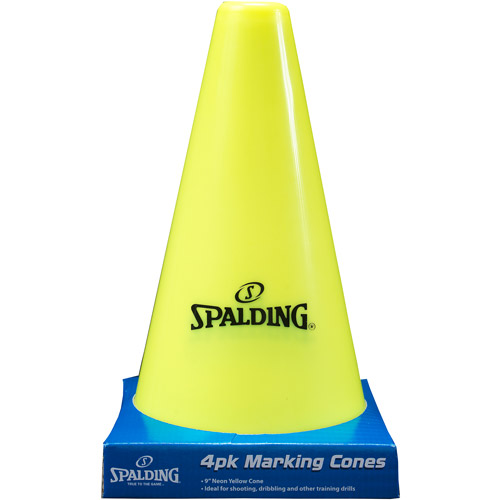 "Spalding 9"" Neon Yellow Cones, 4-Pack"