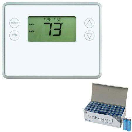 GoControl GC-TBZ48 Z-Wave Battery-Powered Smart Thermostat & UPG AA 50 (Best Z Wave Thermostat)