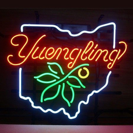 Desung Brand New Yuengling Ohio State Buckeye Neon Sign Lamp Glass Beer Bar Pub Man Cave Sports Store Shop Wall Decor Neon Light 17 X 13  Wm87