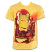 Iron Man Huge Iron Face Shirt Yellow